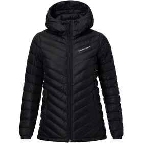 Peak Performance Frost Down Hooded Jas Dames, black